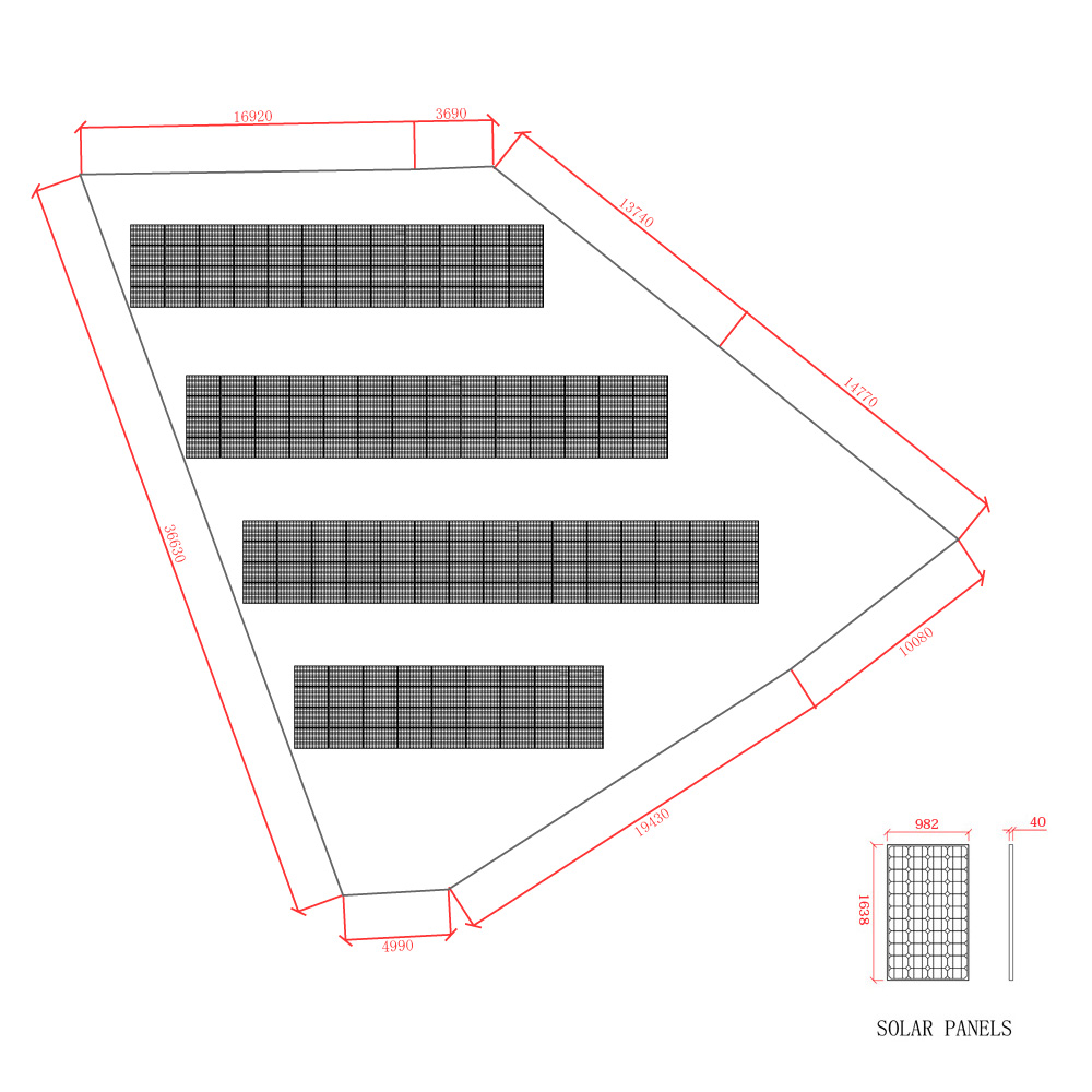 SPI太陽光第2号発電所レーアウト図