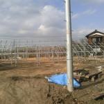 SPI太陽光4号発電所架台工事終了