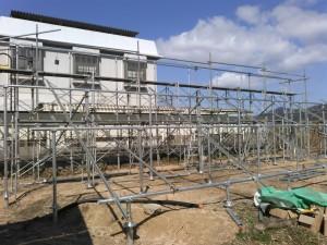 SPI太陽光3号発電所架台工事ほぼ終了