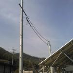 SPI太陽光2号・3号発電所引込工事完了