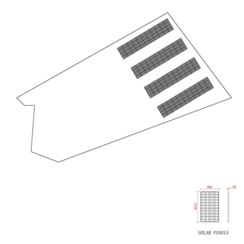 SPI太陽光第8号発電所レーアウト図