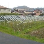 SPI太陽光9号発電所の営農型架台の組立(6)