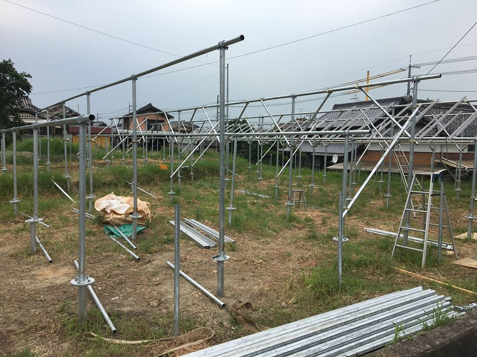 SPI太陽光第14号発電所の建設工事進捗状況