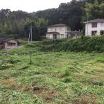 SPI15号機予定地の草刈りと測量,草刈り後